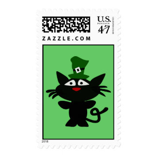 St Patrick's Day: Black Cat Postage