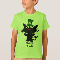 St. Patrick's Day: Black cat T-Shirt