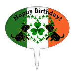 St. Patrick's Day Black Lab Birthday Cake Topper
