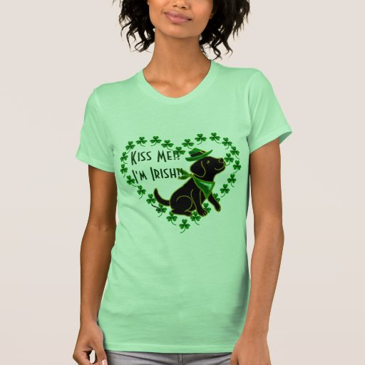 St. Patrick's Day Black Labrador T-Shirt