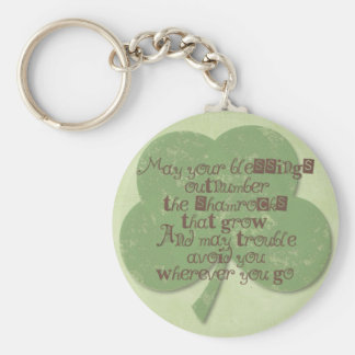 St. Patricks Day Blessing Keychain