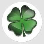 St. Patricks Day Bling Classic Round Sticker
