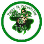 St. Patrick's Day - Blonde And Irish Photo Cut Out