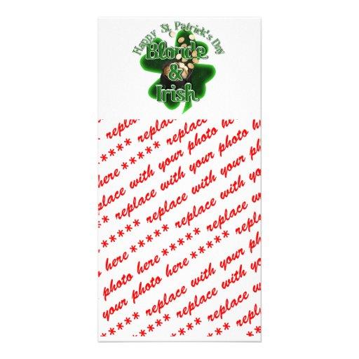 St. Patrick's Day - Blonde And Irish Customized Photo Card
