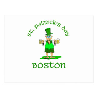 st patricks day boston gladys postcard