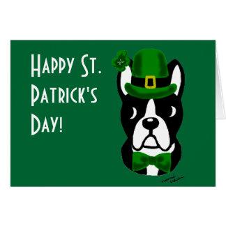 St. Patrick's Day Boston Terrier 1 Card