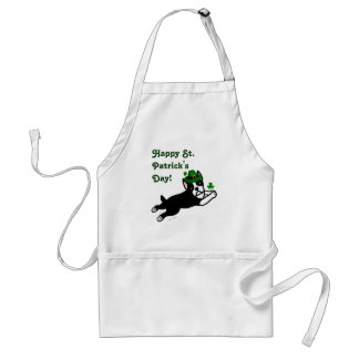 St. Patrick's Day Boston Terrier 2 Adult Apron