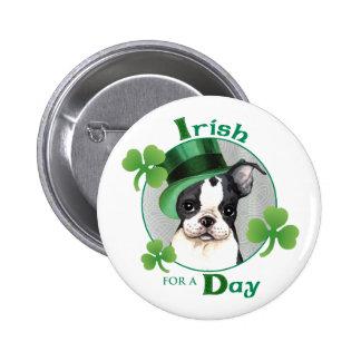 St. Patrick's Day Boston Terrier Button