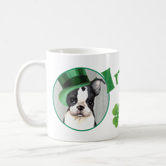 St. Patrick's Day Boston Terrier Coffee Mug
