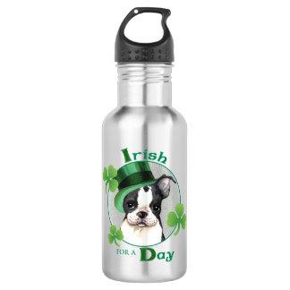 St. Patrick's Day Boston Terrier Stainless Steel Water Bottle