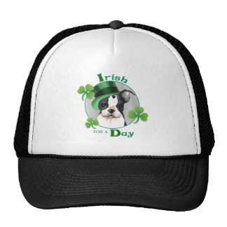 St. Patrick's Day Boston Terrier Trucker Hat