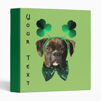 St. Patrick's Day Boxer binder