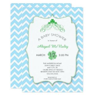 St Patrick's Day Boy Baby Shower Invites