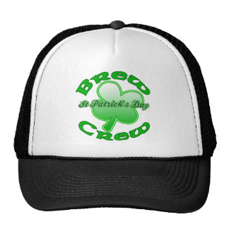 St Patrick's Day Brew Crew Products Trucker Hat