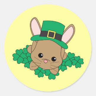 St.Patrick's Day Bunny Classic Round Sticker