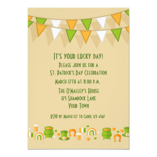 St. Patrick's Day Bunting and Icons Card