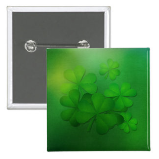 St. Patrick's Day Button - Clovers
