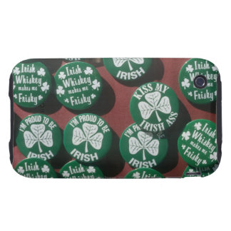 St. Patrick's Day buttons displaying Irish pride iPhone 3 Tough Cover