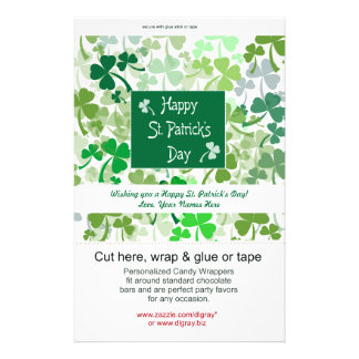 St. Patrick's Day Candy Wrappers Custom Flyer