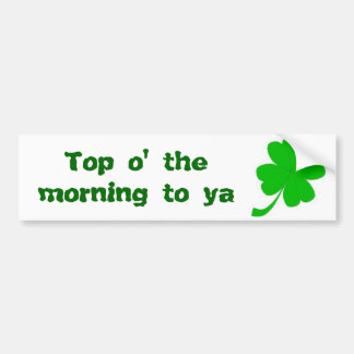 St Patrick's Day Car Bumper Sticker