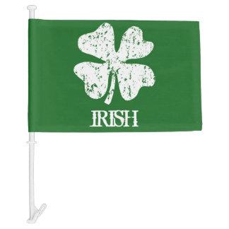 St Patricks Day car flags with lucky irish clover Car Flag