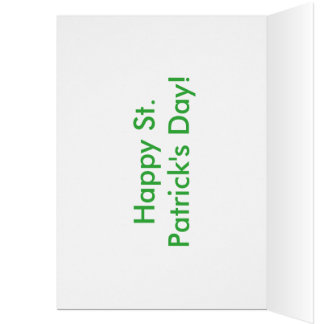 St. Patrick's Day Card - Cute Kid Drawing