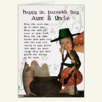 St. Patrick's Day Card With Leprechaun Aunt & Uncl