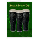St. Patrick's Day Card With Pints of Irish Beer