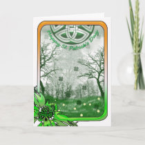 St Patrick's Day Card With Shamrock, Scenery