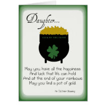St. Patrick's Day Cards for Daughter