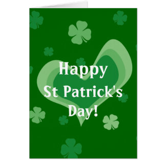 St Patrick's Day Cards with falling shamrocks