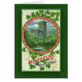 St. Patrick's Day Cards with Irish Castle