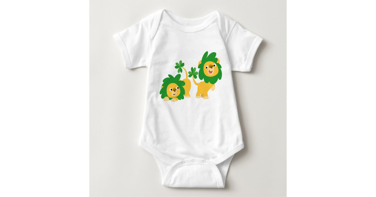 St Patrick s Day Cartoon Lions Baby Apparel Baby Bodysuit