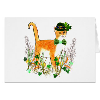 St. Patrick's Day Cat Card