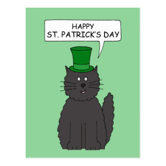 St Patrick's Day Cat. Postcard