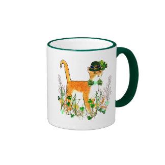 St. Patrick's Day Cat Ringer Coffee Mug