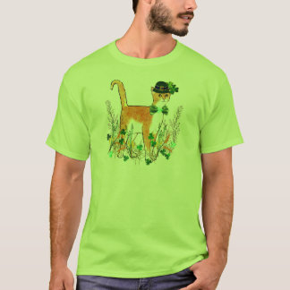 St. Patrick's Day Cat T-Shirt