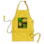 ST PATRICK'S  DAY CAT  WITH GREEN IRISH BEER ADULT APRON