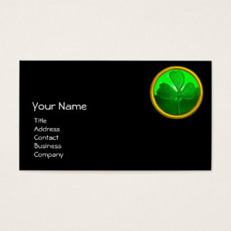 ST PATRICK'S  DAY CAT  WITH GREEN IRISH BEER BUSINESS CARD