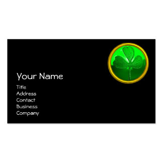 ST PATRICK'S  DAY CAT  WITH GREEN IRISH BEER Double-Sided STANDARD BUSINESS CARDS (Pack OF 100)