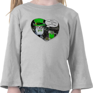 ST PATRICK'S DAY CAT WITH GREEN IRISH BEER / HEART SHIRTS