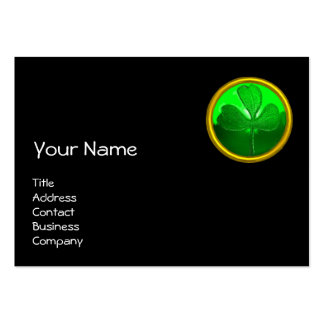 ST PATRICK'S  DAY CAT  WITH GREEN IRISH BEER LARGE BUSINESS CARD