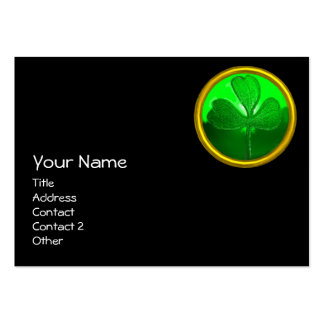 ST PATRICK'S  DAY CAT  WITH GREEN IRISH BEER LARGE BUSINESS CARDS (Pack OF 100)
