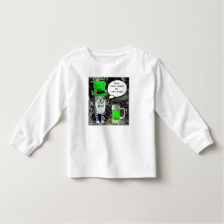 ST PATRICK'S DAY CAT WITH GREEN IRISH BEER TODDLER T-SHIRT