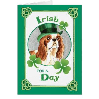 St. Patrick's Day Cavalier Card