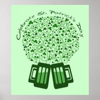 St. Patrick's Day Celebration Art Poster Print