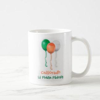 ST PATRICKS DAY CELEBRATION, IRISH GAELIC LANGUAGE COFFEE MUG