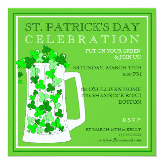 St. Patricks Day Celebration Party Invitation