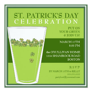 St. Patricks Day Celebration Party Pint Invitation