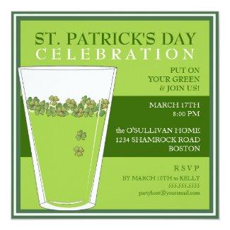 St. Patricks Day Celebration Party Pint Invitation